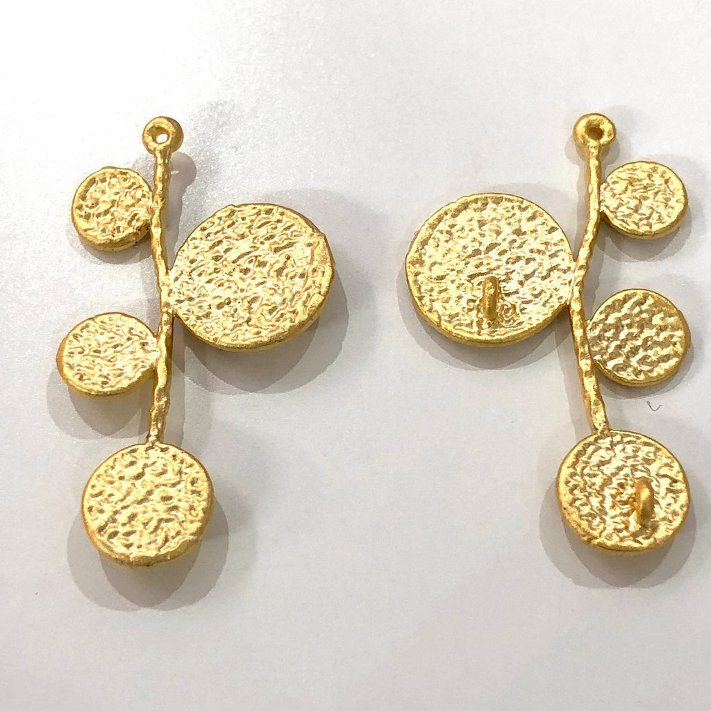 Pair of Authentic Gold Plated Pendant, 22Kt Gold Plated Brass Pendant With Three Loop