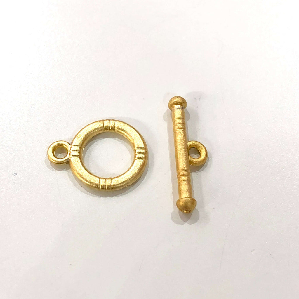 Gold Toggle Clasp, 22Kt Gold Plated Brass Toggle Clasp