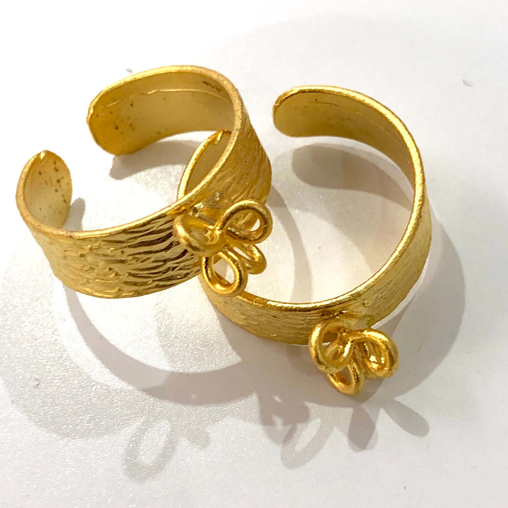 22Kt Gold  Plated Brass Adjustable Ring Blank