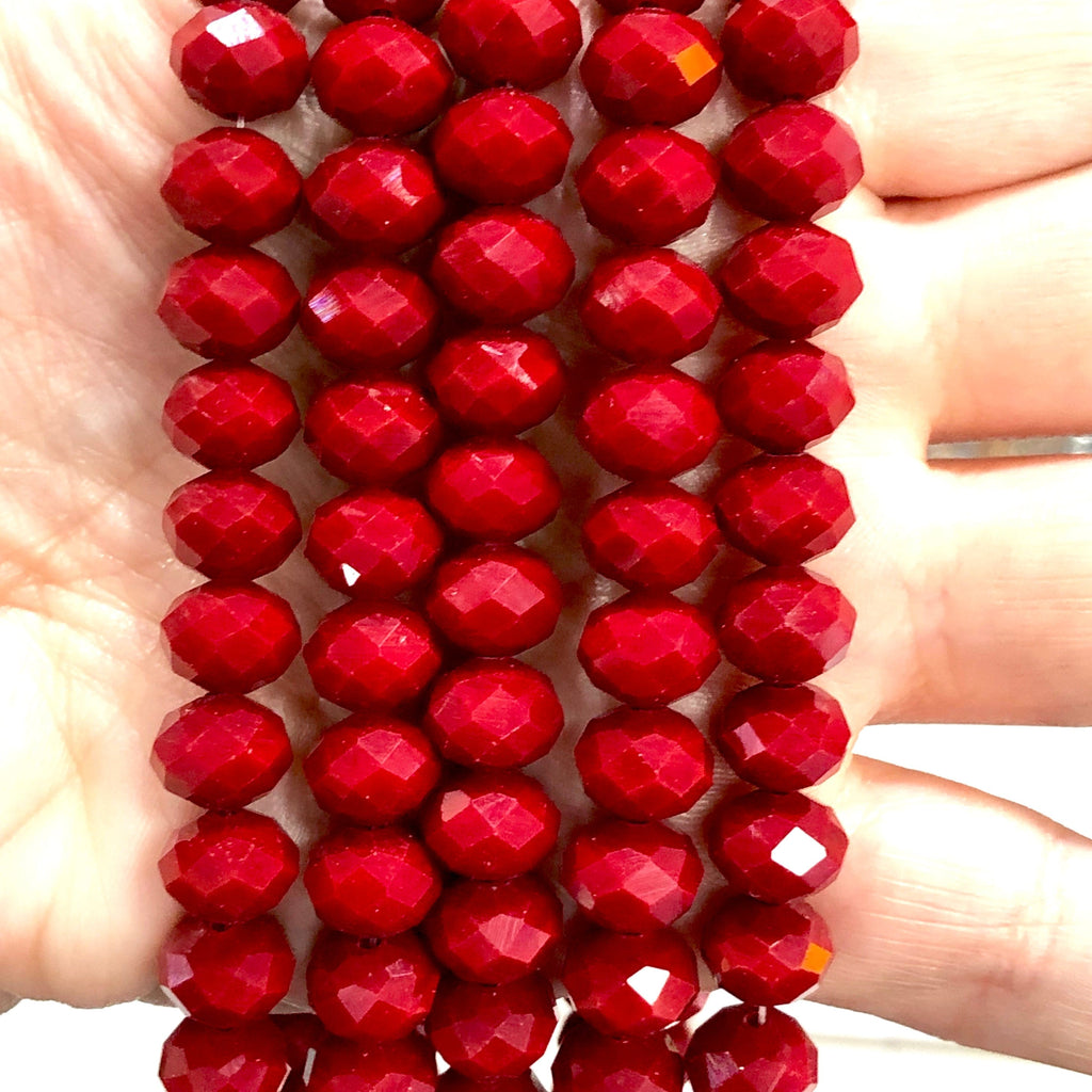 Crystal faceted rondelle - 72 pcs - 10 mm - full strand - PBC10C30,Crystal Beads, Beads, glass beads, beads crystal rondelle beads