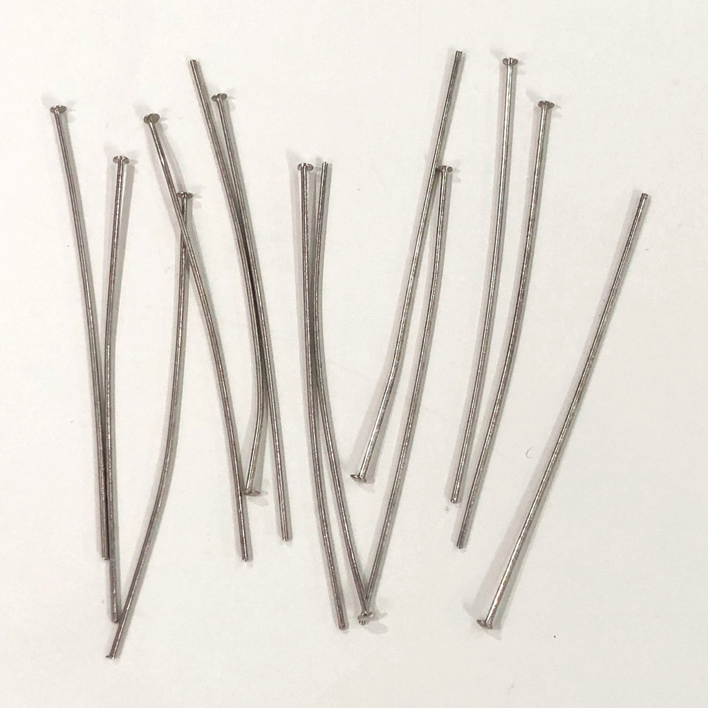 Silver Head pins, 0.8mm by 60mm, Silver Head  Pins 60mm