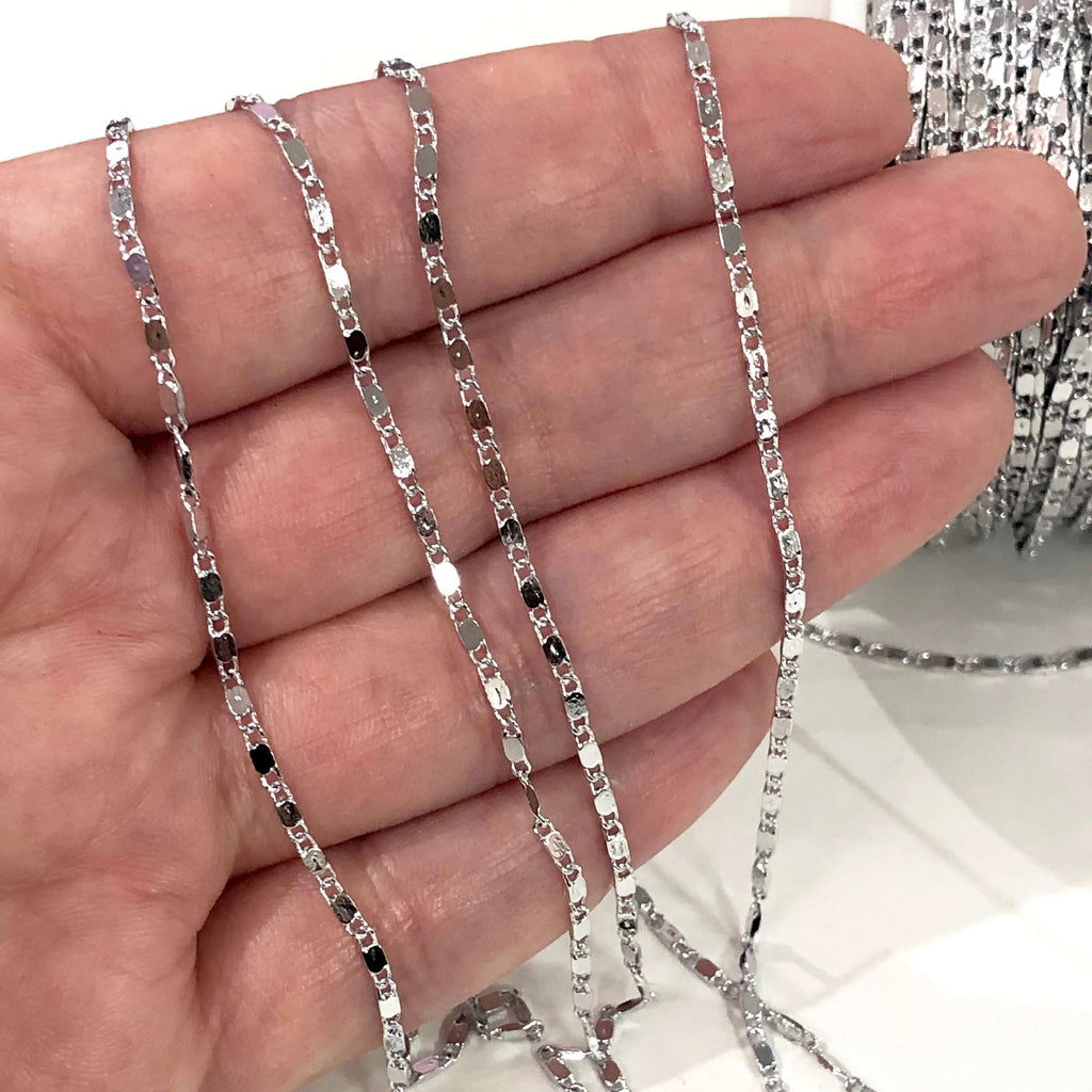5 Metre Bulk, Silver Plated Soldered Chain, Silver Plated Chain