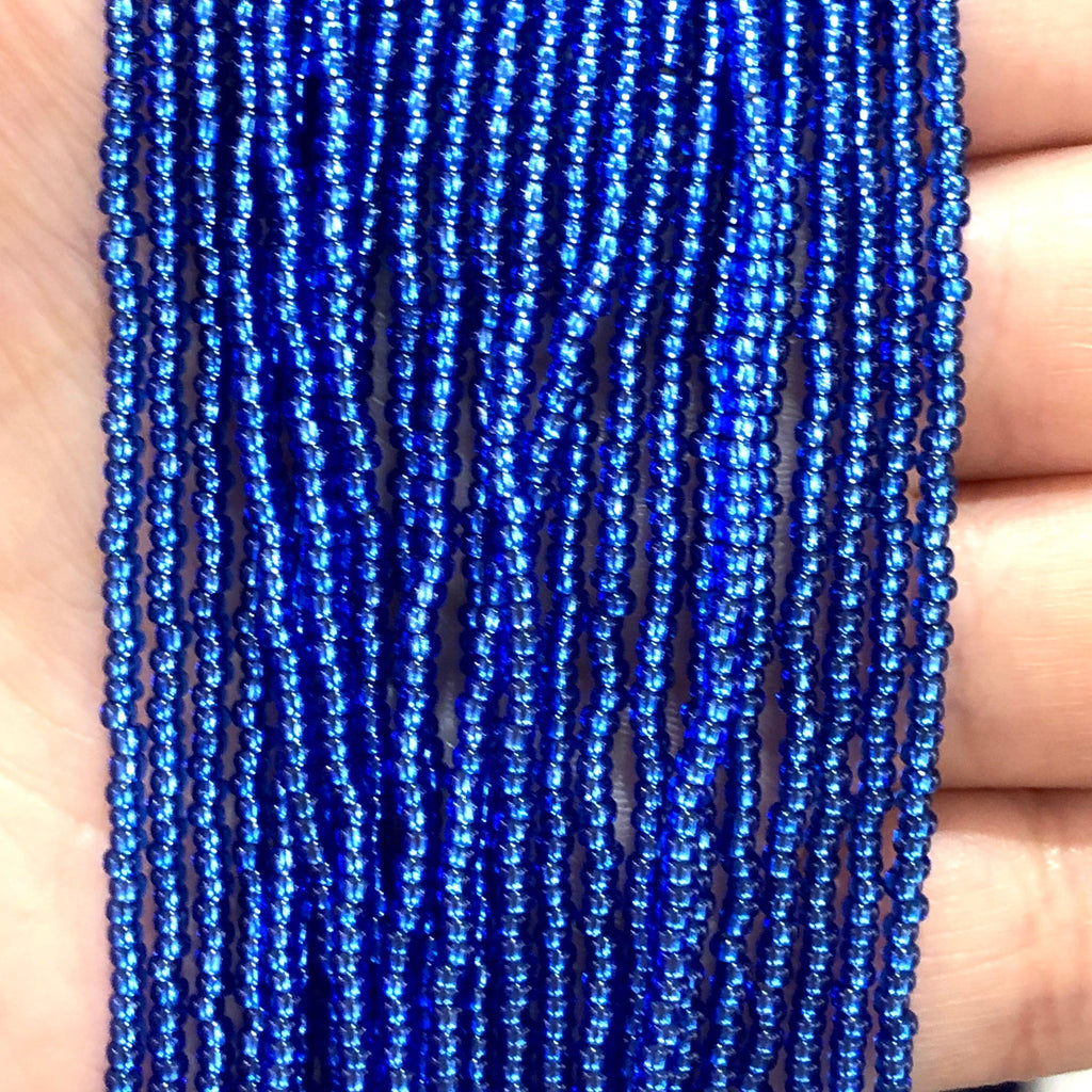 Preciosa Seed Beads 11/0 Rocailles-Round Hole,37050 Sapphire Silver Lined-PRCS11/0-113