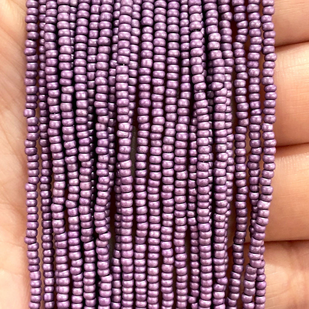 Preciosa  Coated Seed Beads 11/0 Rocailles-Round Hole,Beads,Seed Beads-18528M Matte Violet Metallic Dyed Crystal  PRCS11/0-116,