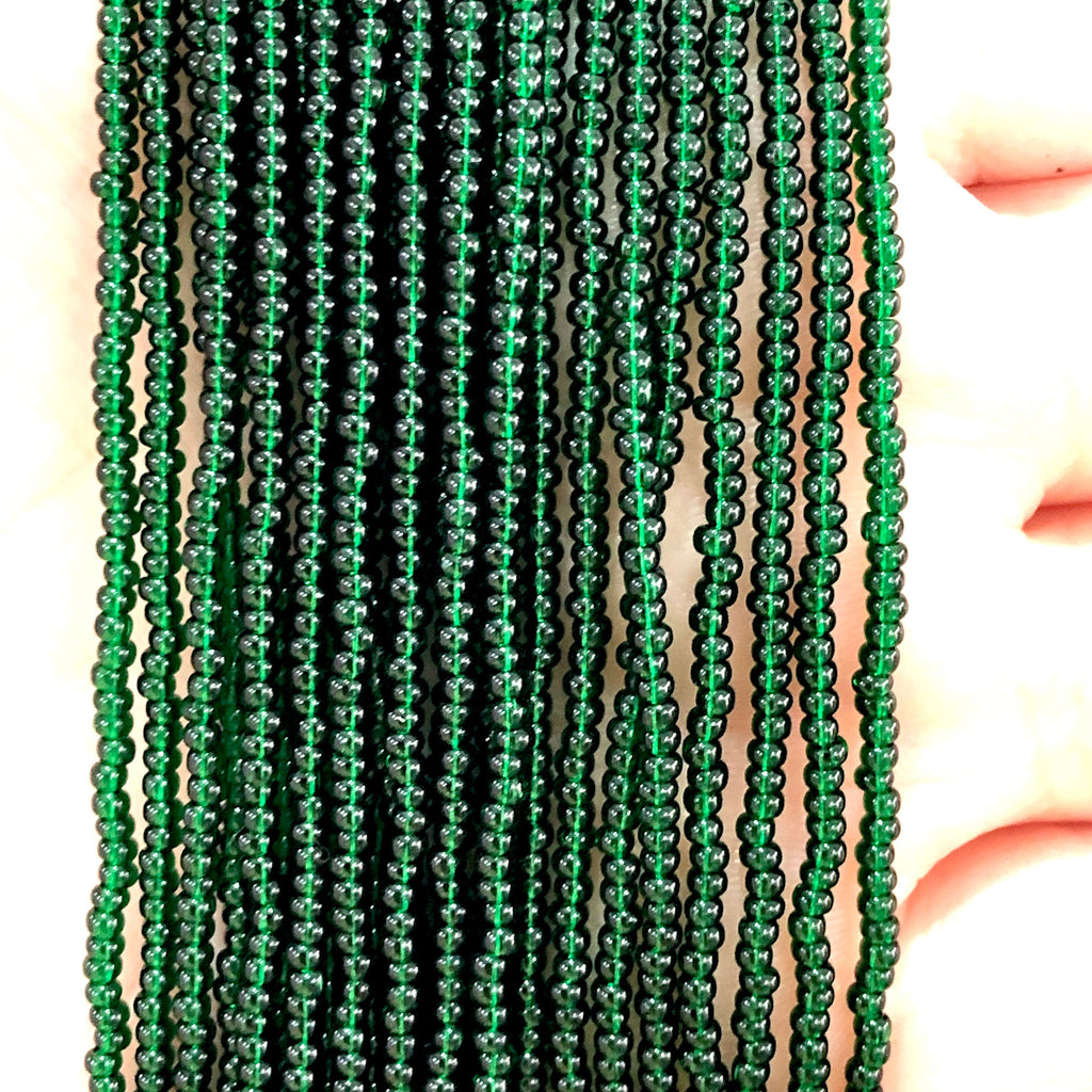 Preciosa Seed Beads 11/0 50150 Transparent Dark Green  -PRCS11/0-145