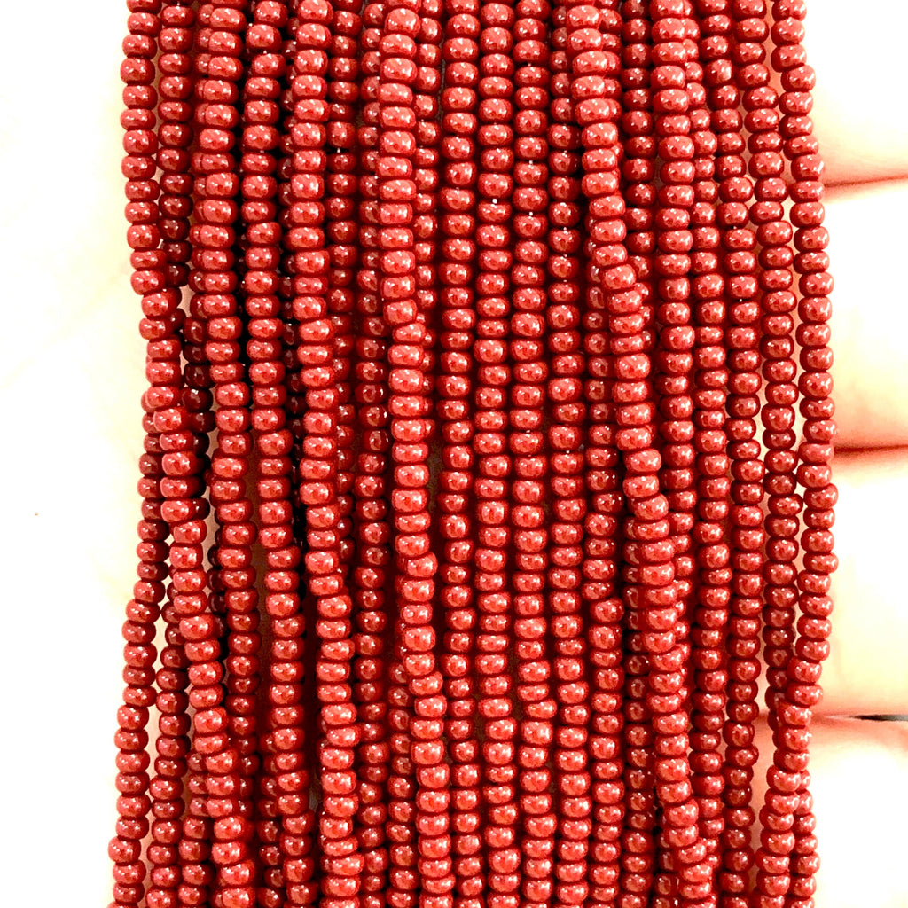 Preciosa Seed Beads 11/0 93300 Opaque Red Coral -PRCS11/0-161