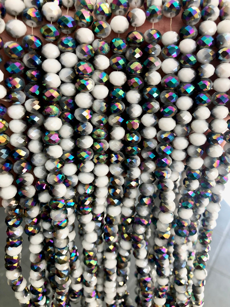 Crystal faceted rondelle - 72 pcs - 8 mm - full strand - PBC8C23