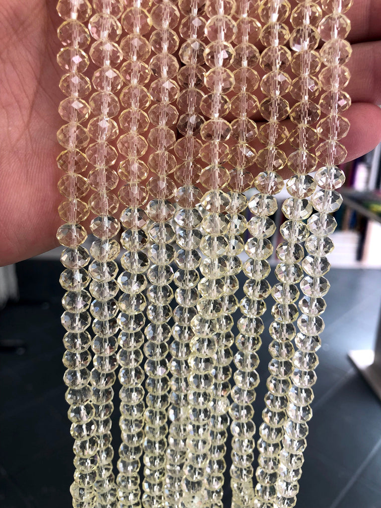 8mm Crystal faceted rondelle - 72 pcs - 8 mm - full strand - PBC8C81,