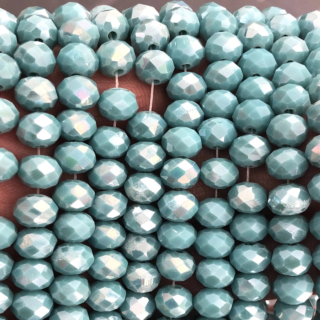 Crystal faceted rondelle - 72 pcs - 8 mm - full strand - PBC8C56