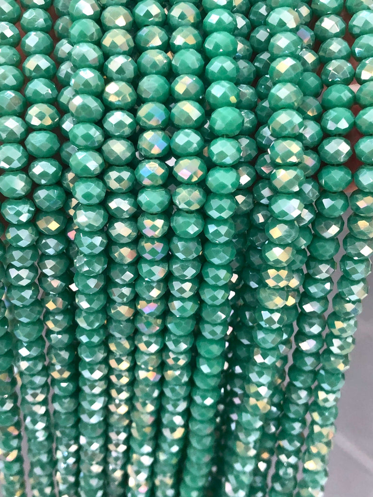 6mm Crystal faceted rondelle - 100 pcs -6 mm - full strand - PBC6C76, Crystal Beads, Beads, glass beads, beads ,crystal rondelle beads