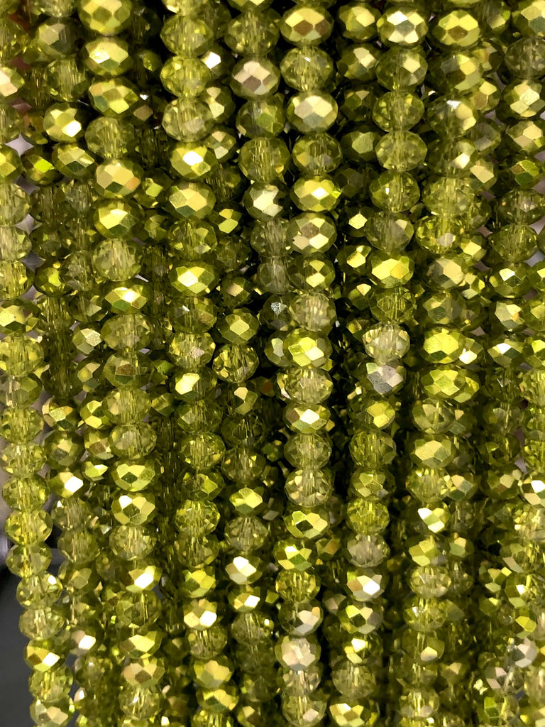 6mm Crystal faceted rondelle - 100 pcs -6 mm - full strand - PBC6C86, Crystal Beads, Beads, glass beads, beads ,crystal rondelle beads