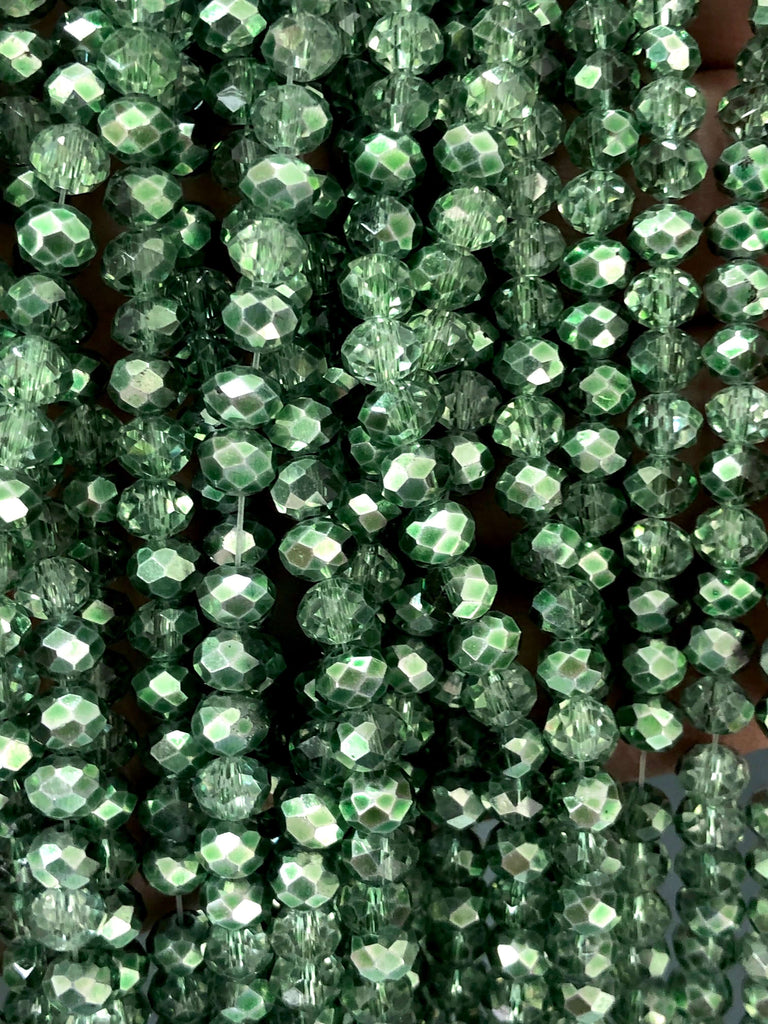 6mm Crystal faceted rondelle - 100 pcs -6 mm - full strand - PBC6C90, Crystal Beads, Beads, glass beads, beads ,crystal rondelle beads