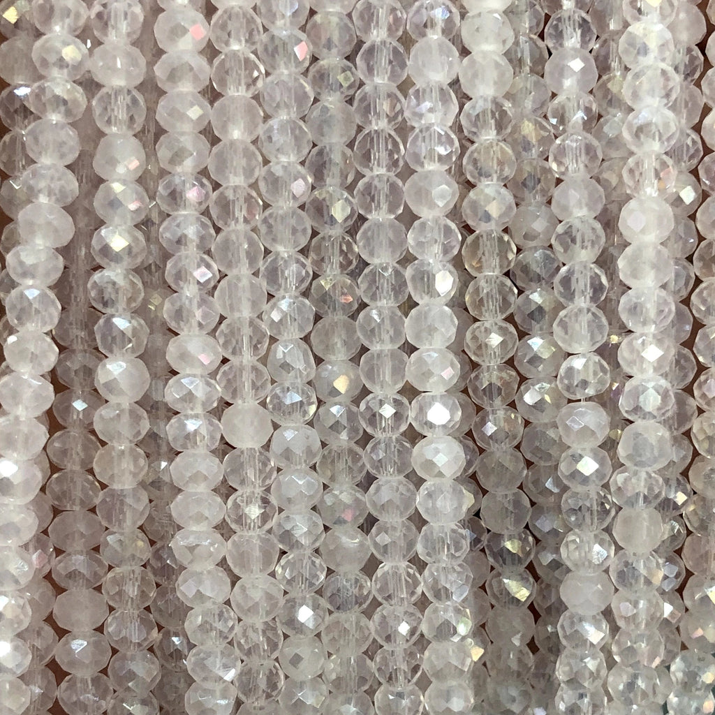 Crystal faceted rondelle - 150 pcs -4 mm - full strand - PBC4C82 Crystal Beads,Beads, glass beads, beads