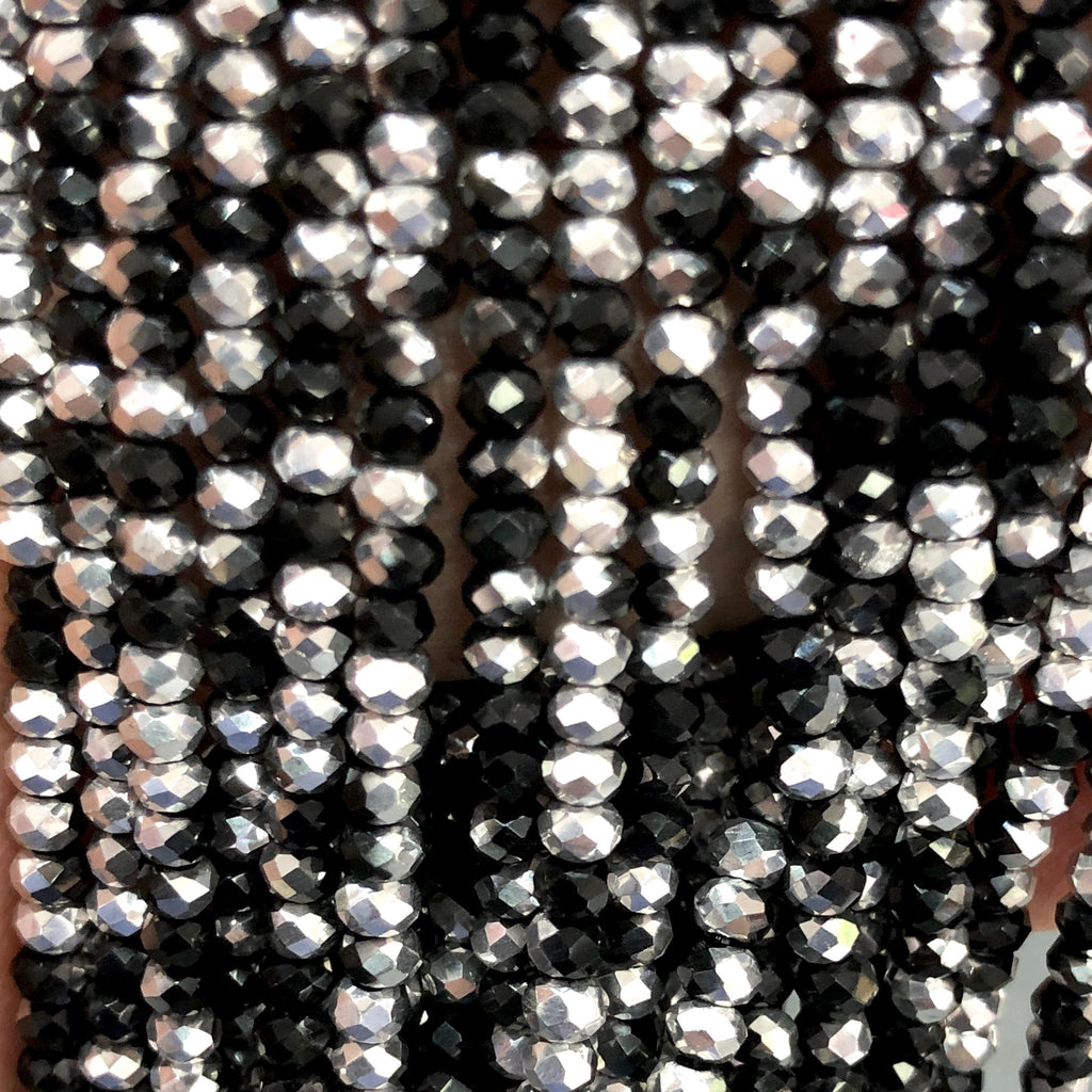 Crystal faceted rondelle - 200 pcs -2mm - full strand - PBC2C26