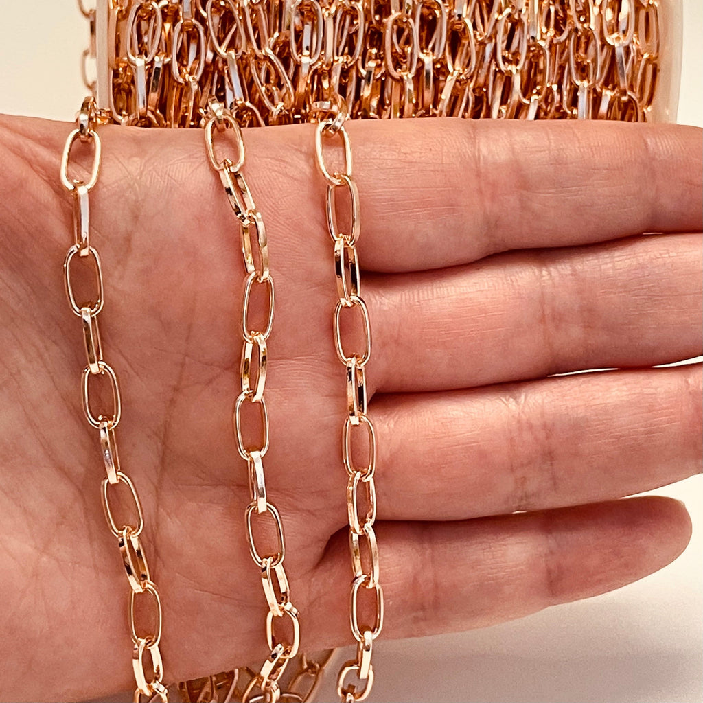 Rose Gold Plated Chain 9x5 mm Open Links