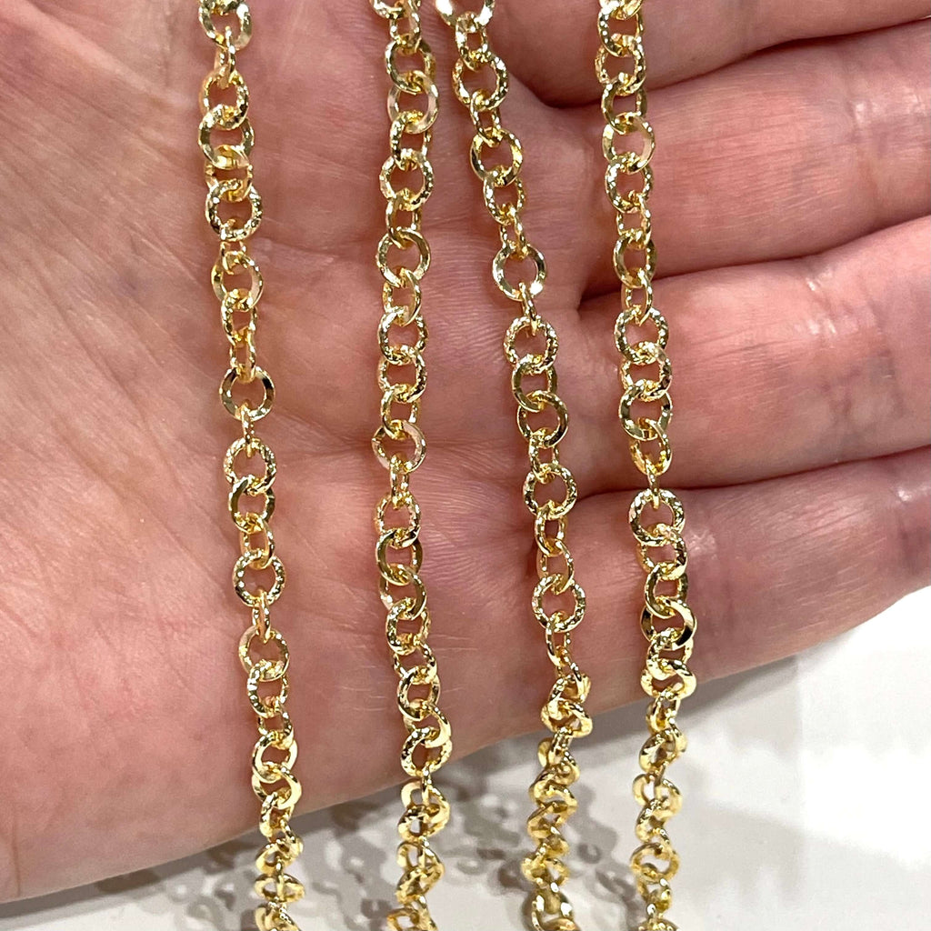 24Kt Shiny Gold Plated Chain, 4.5mm Gold Plated Chain,