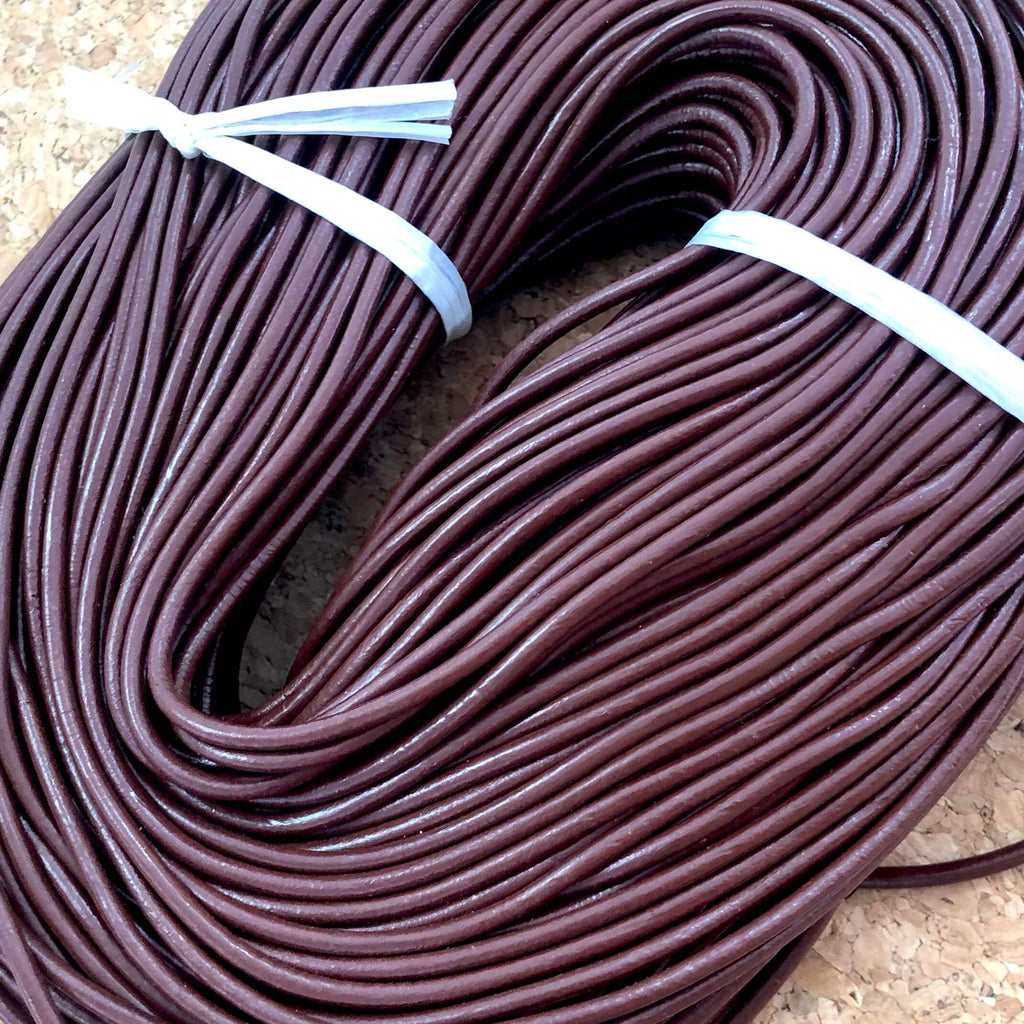 4mm Genuine  Leather Cord, Silver, Black, Red, Brown, Green, Natural, Navy Blue Colors