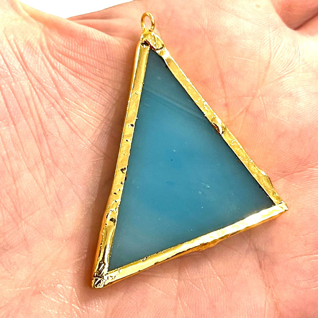 24Kt Gold Plated Hand Made Glass Pendant