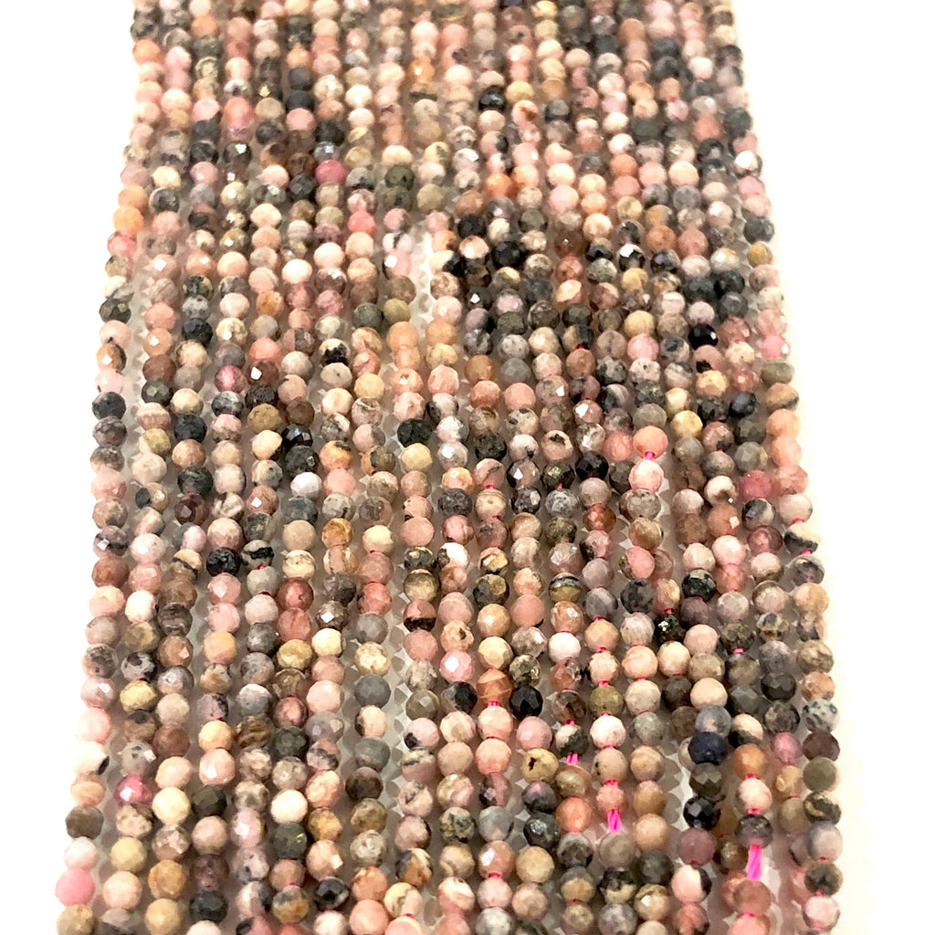 Tourmaline Multi - 2mm(2.2mm) micro faceted beads - full strand - 208 beads - AAA Quality