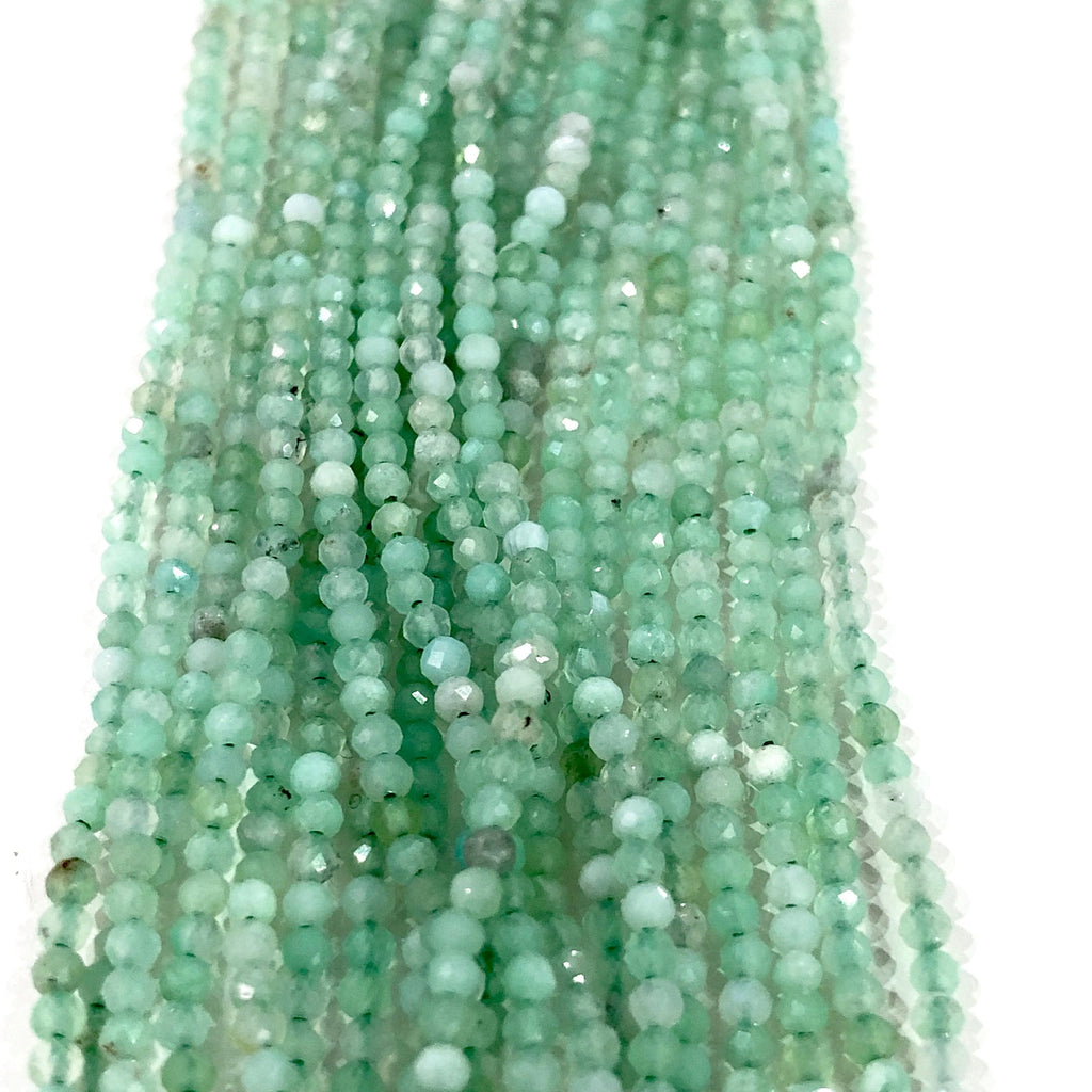 Chrysoprase - 2mm(2.1mm) micro faceted beads - full strand - 215 beads - AAA Quality