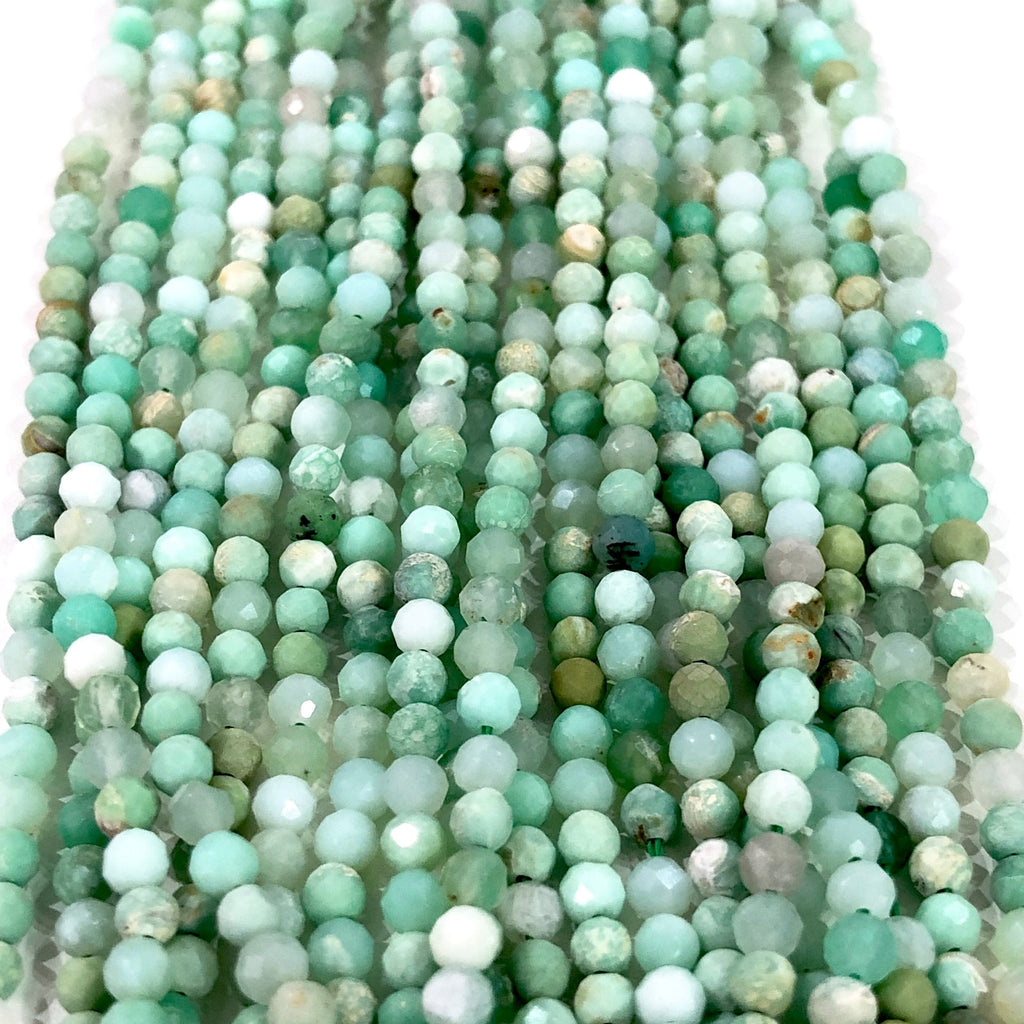 Chrysoprase - 3mm(3.15mm) micro faceted beads - full strand - 140 beads - AAA Quality
