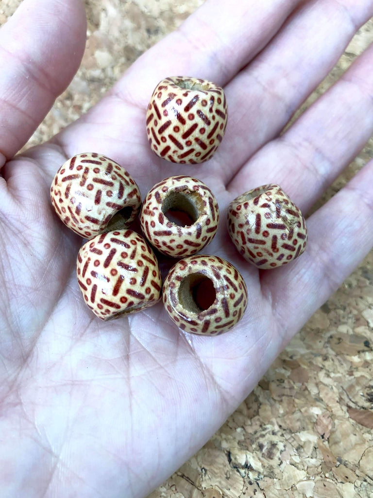 10 Wood Spacer Beads , 16 x 17mm Wooden Beads ,Natural Wooden Beads For Jewelry Making, 17mm Round Wooden Beads