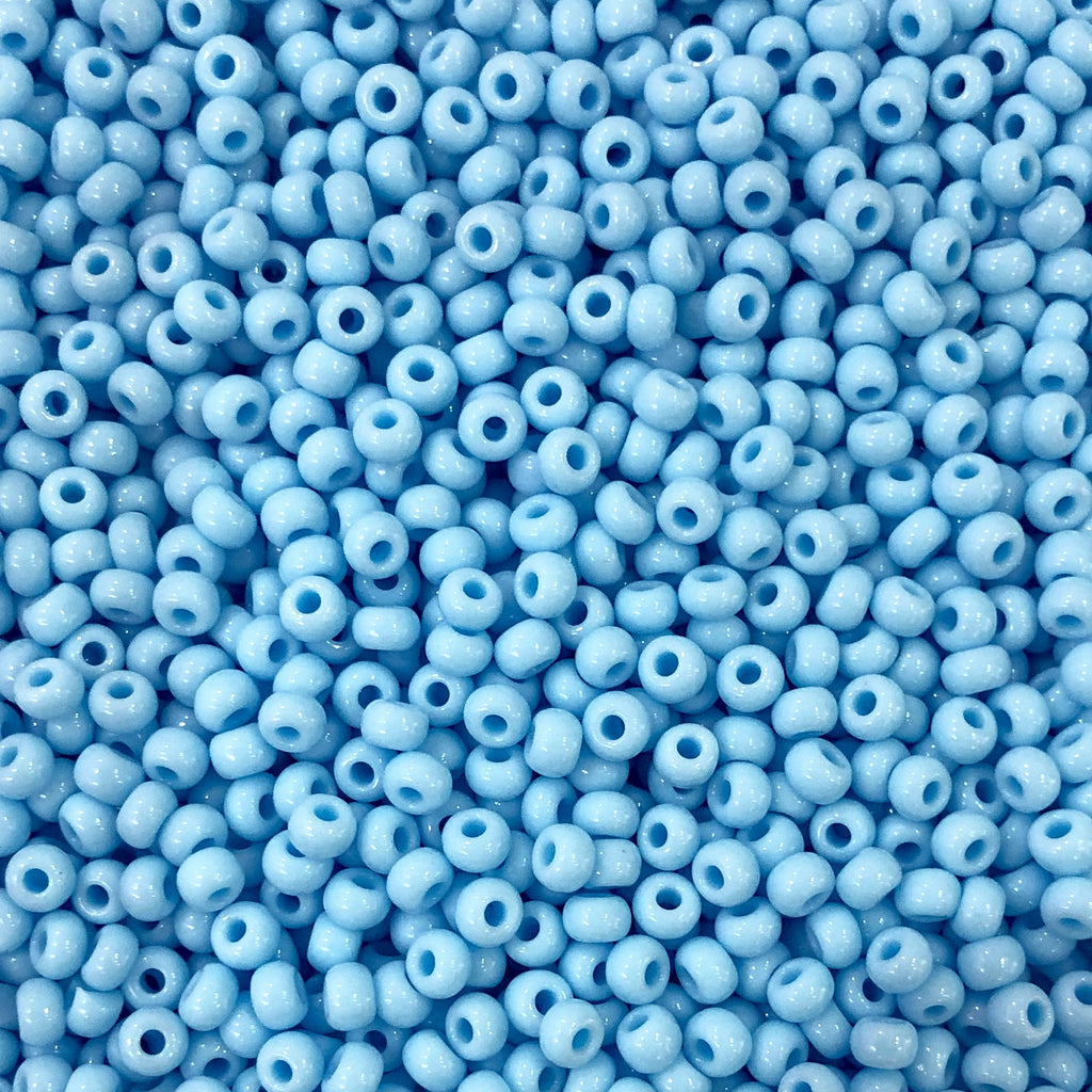 Preciosa  Seed Beads 8/0 Rocailles-Round Hole-20 Gr,63000 Lt. Turquoise