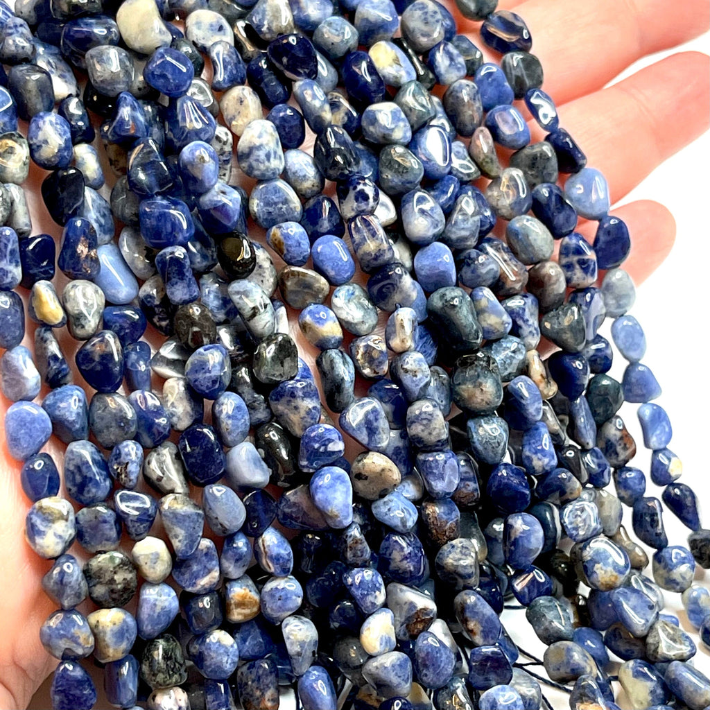 Genuine Sodalite Natural Gemstone Nuggets,54 Beads