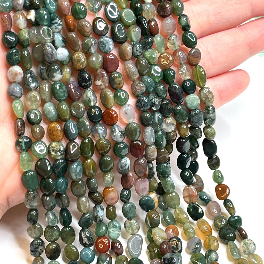 Genuine Indian Agate Natural Gemstone Nuggets,54 Beads