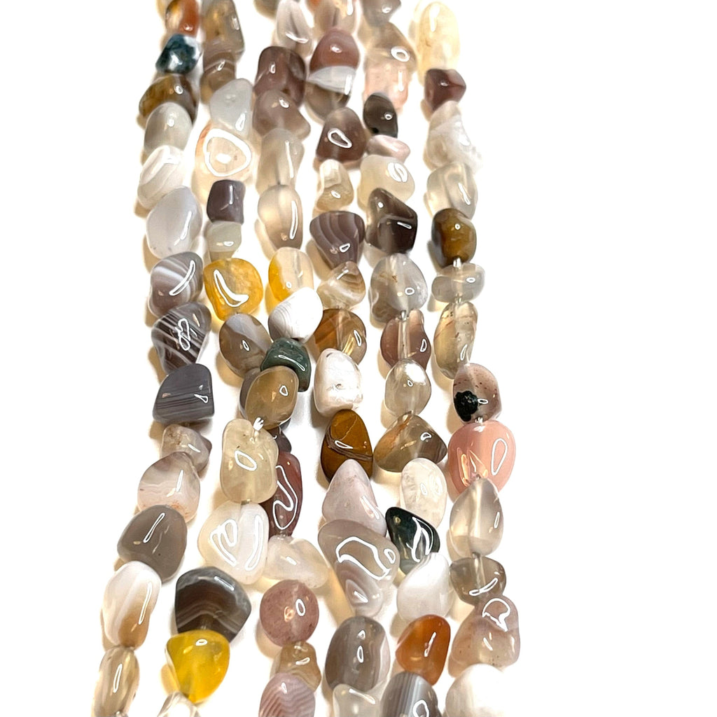 Genuine Agate Natural Gemstone Nuggets,55 Beads