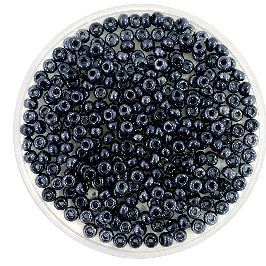 Preciosa Seed Beads 6/0 Rocailles-Round Hole 20 gr, 49102 Hematite