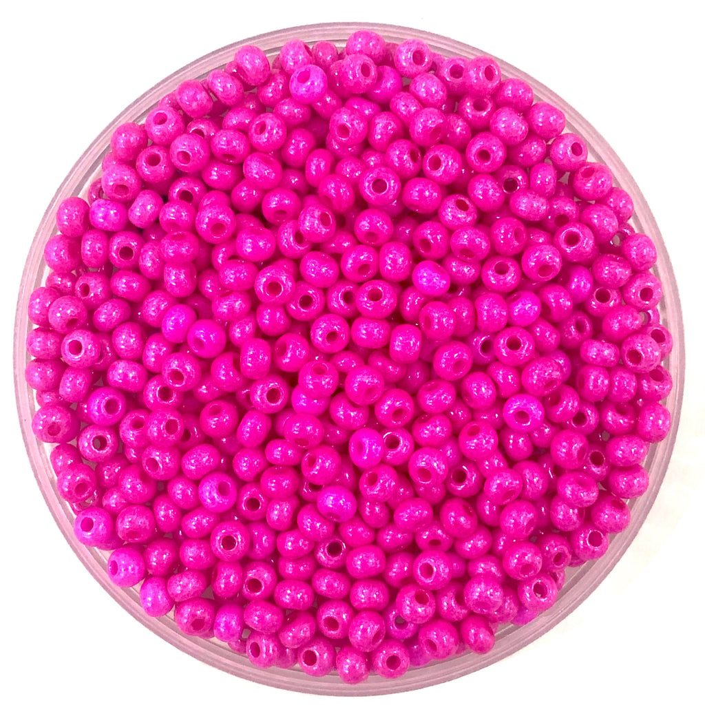 Preciosa Seed Beads 6/0 Rocailles-Round Hole 20 gr,  16177 Pink Dyed Chalkwhite