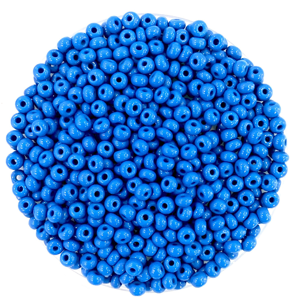 Preciosa Seed Beads 6/0 Rocailles-Round Hole 20 gr, 33210 Opaque  Blue