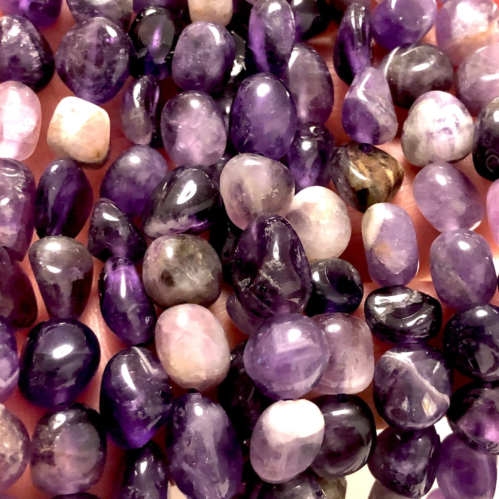 Genuine Natural Amethyst  Nuggets, 39 Beads