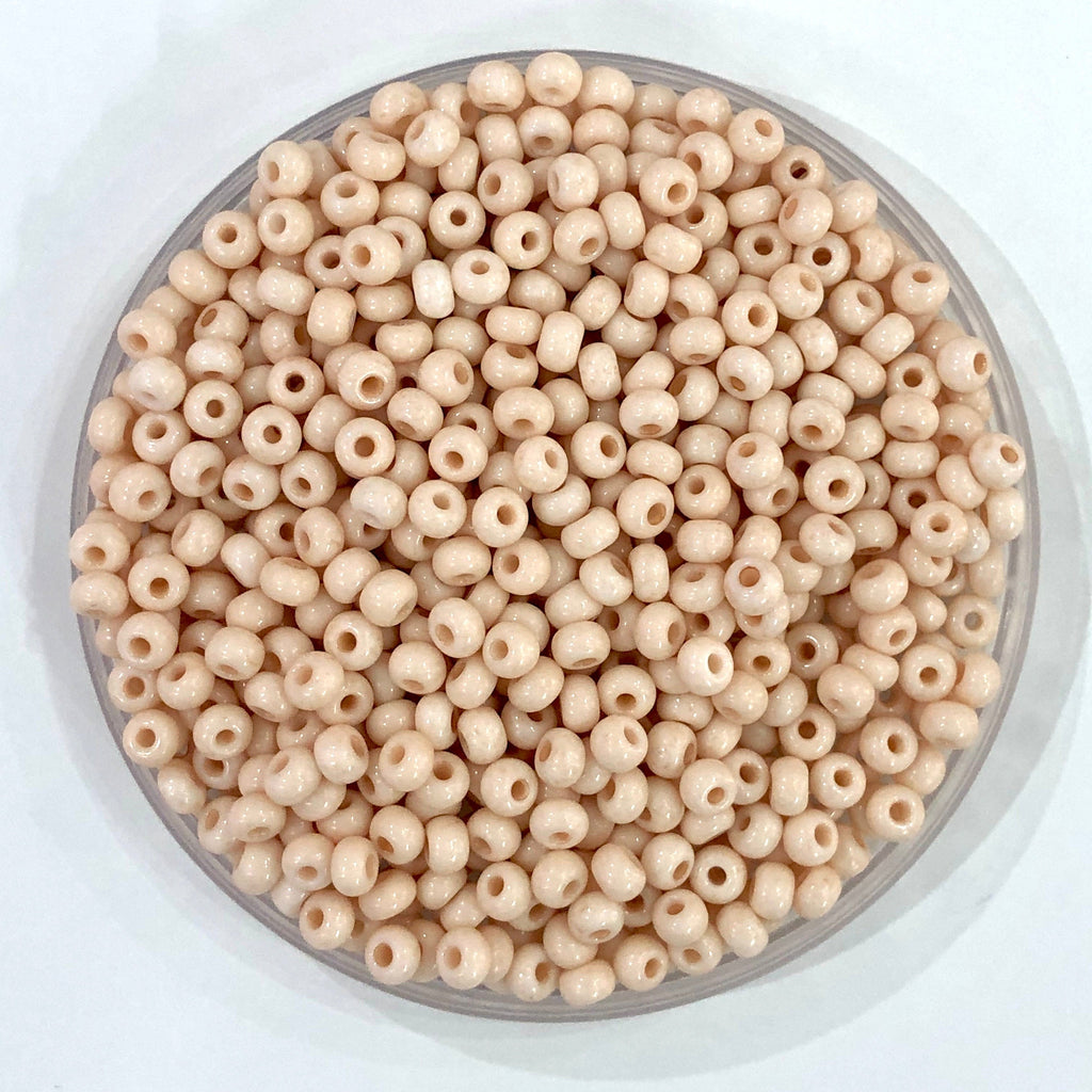 Preciosa Seed Beads 6/0 Rocailles-Round Hole 20 gr, 03011 Creamy Beige