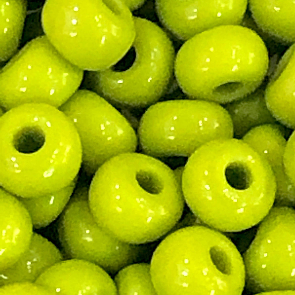 Preciosa Seed Beads 6/0 Rocailles-Round Hole 20 gr, 53430 Opaque Olivine Green