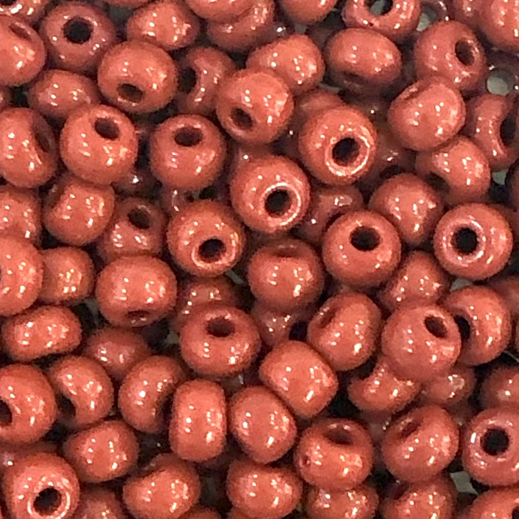 Preciosa Seed Beads 6/0 Rocailles-Round Hole 20 gr, 93300 Opaque Red Coral