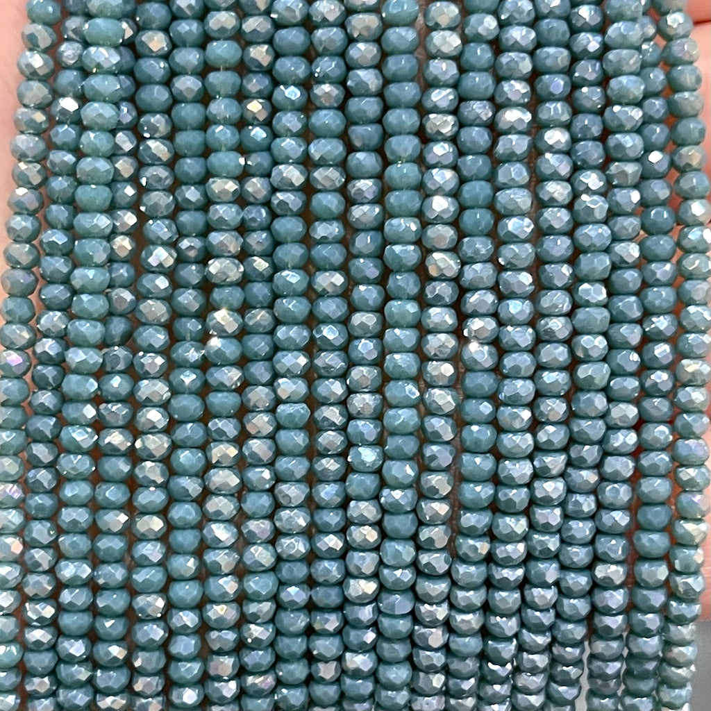 Crystal faceted rondelle - 200 pcs -2mm - full strand - PBC2C45,Crystal Beads, Beads, glass beads, beads crystal rondelle beads
