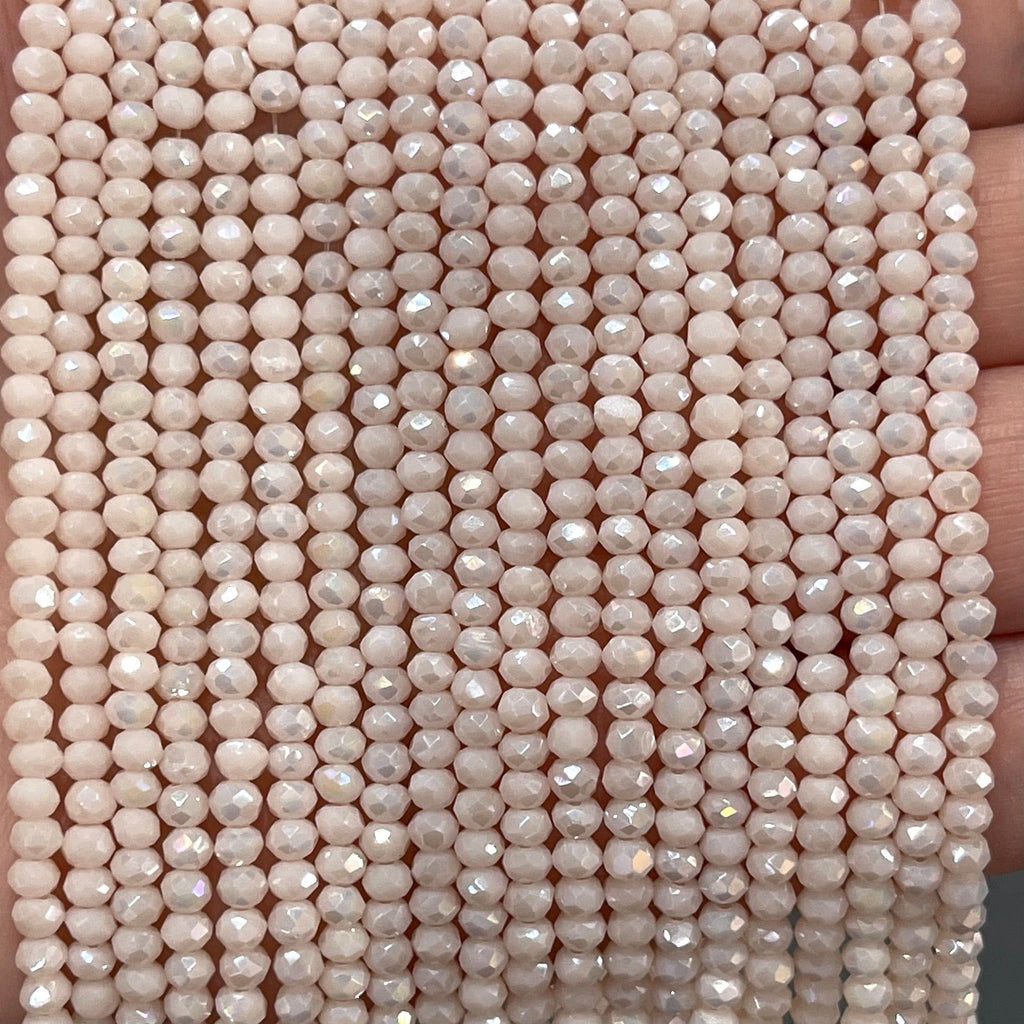 Crystal faceted rondelle - 150 pcs -3mm - full strand - PBC3C36, Crystal Beads,Beads, glass beads, beads