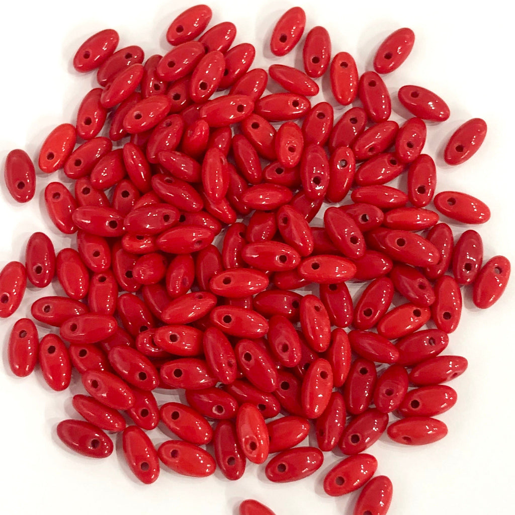 Red Rice Beads, Glass Rice Beads,Glass Beads, 10 gr pack