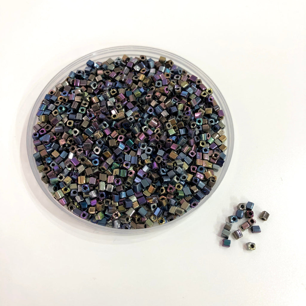 Cube Beads 2,5mm Glass Cube Beads,