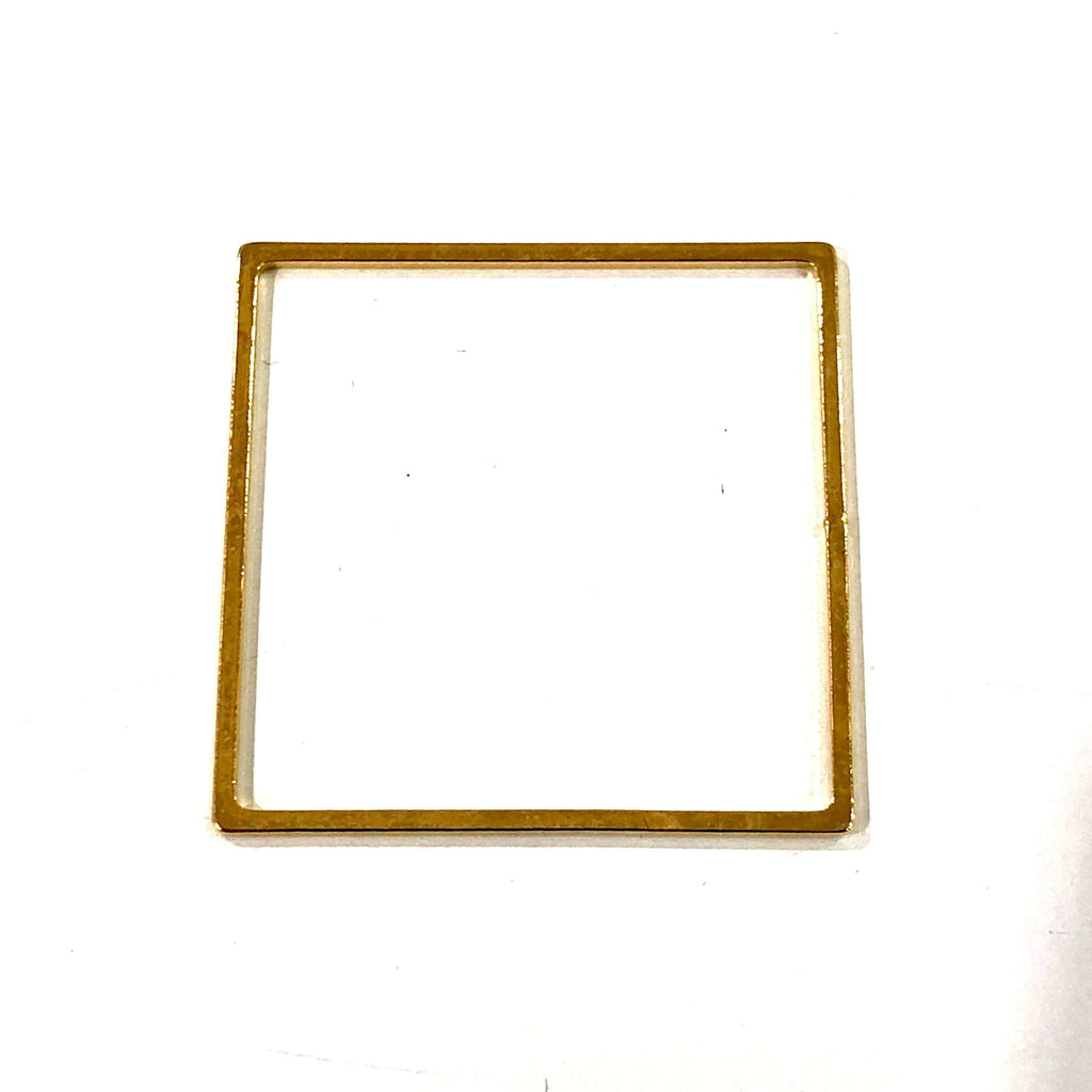 24Kt Gold Plated Square Blanks, 24Kt Gold Plated Brass Square Blanks,27mm Square Blank