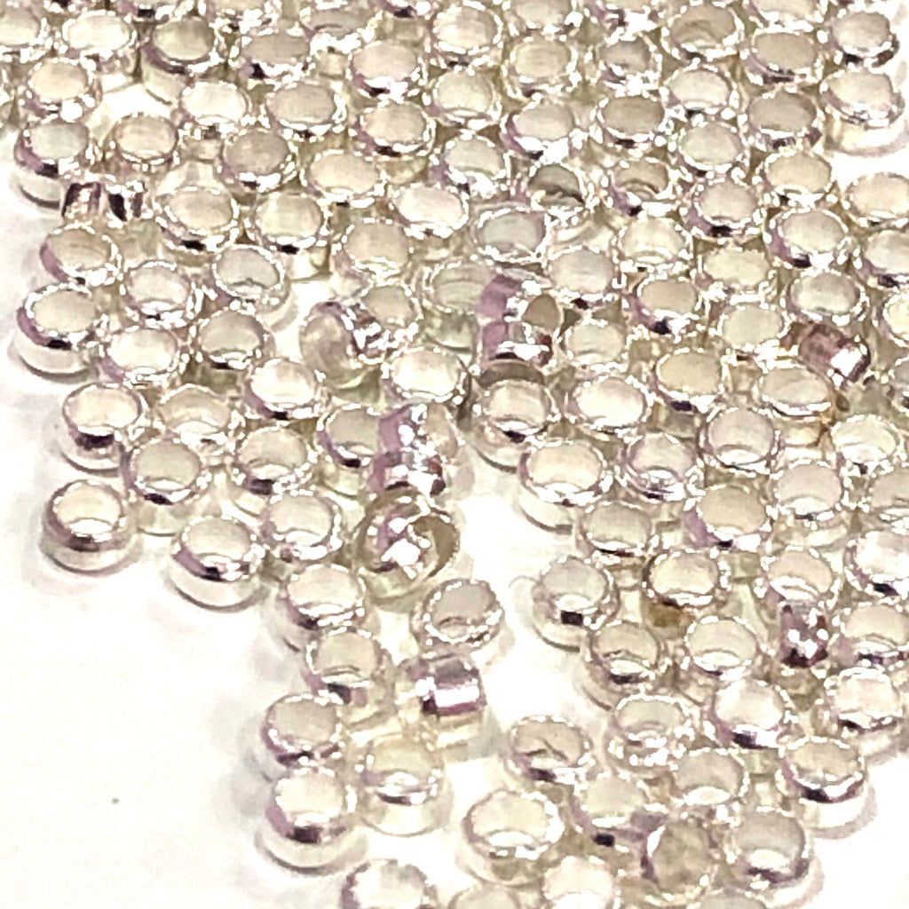 Crimp Beads, Silver Crimp Beads 5gr Pack