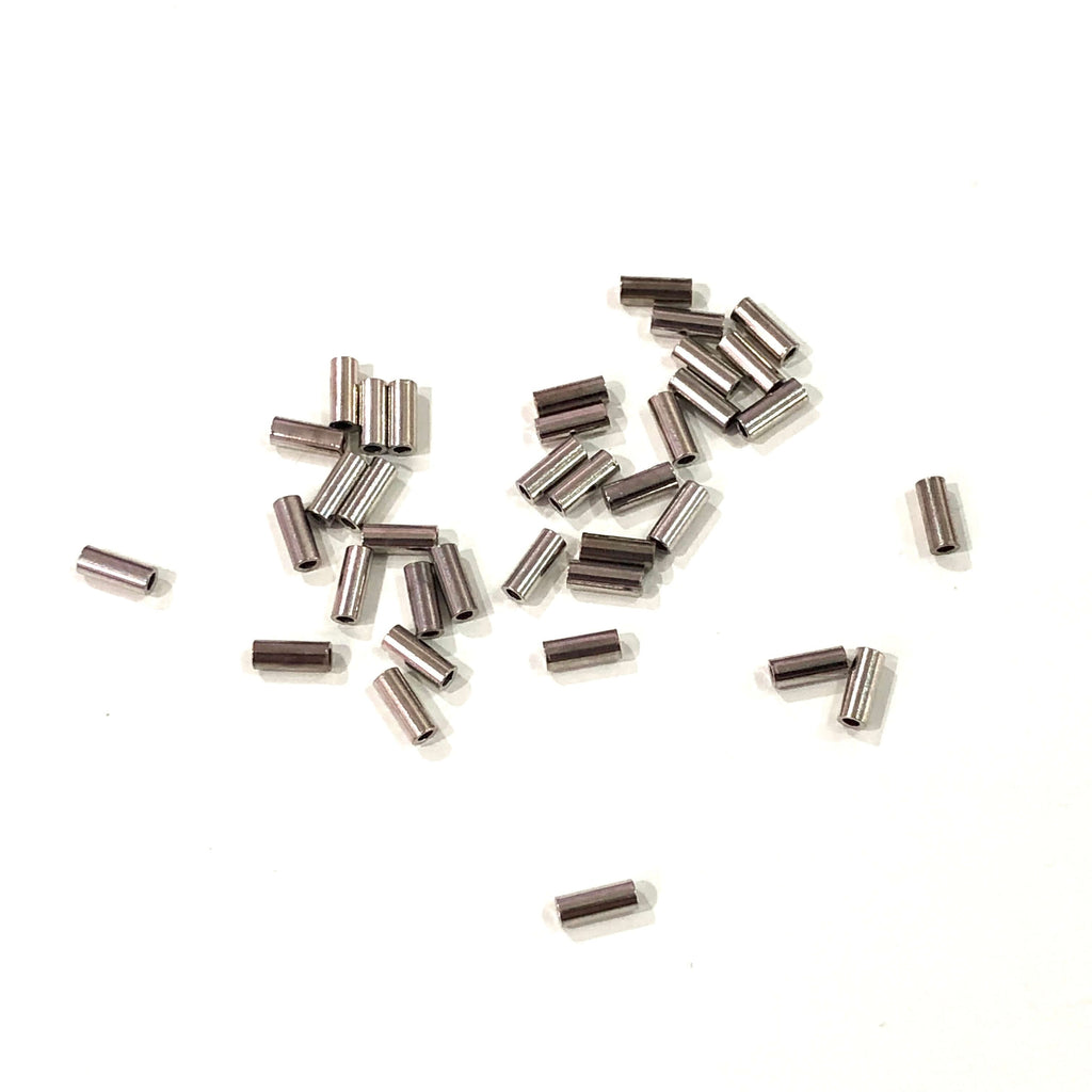 5mm Tube Bead, Spacer Tube Beads, Silver Plated, Silver Spacer Tubes, 50 Pcs in a pack