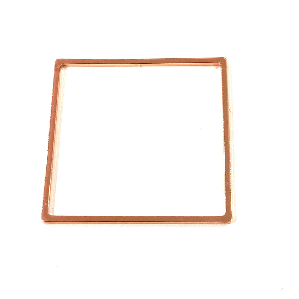 Rose Gold Plated Square Blanks, Rose Gold Plated Brass Square Blanks,27mm Square Blank