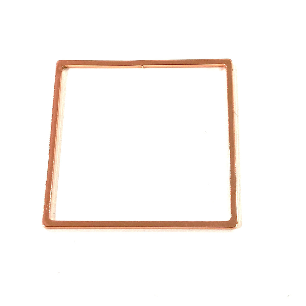 Rose Gold Plated Square Blanks, Rose Gold Plated Brass Square Blanks,32mm Square Blank