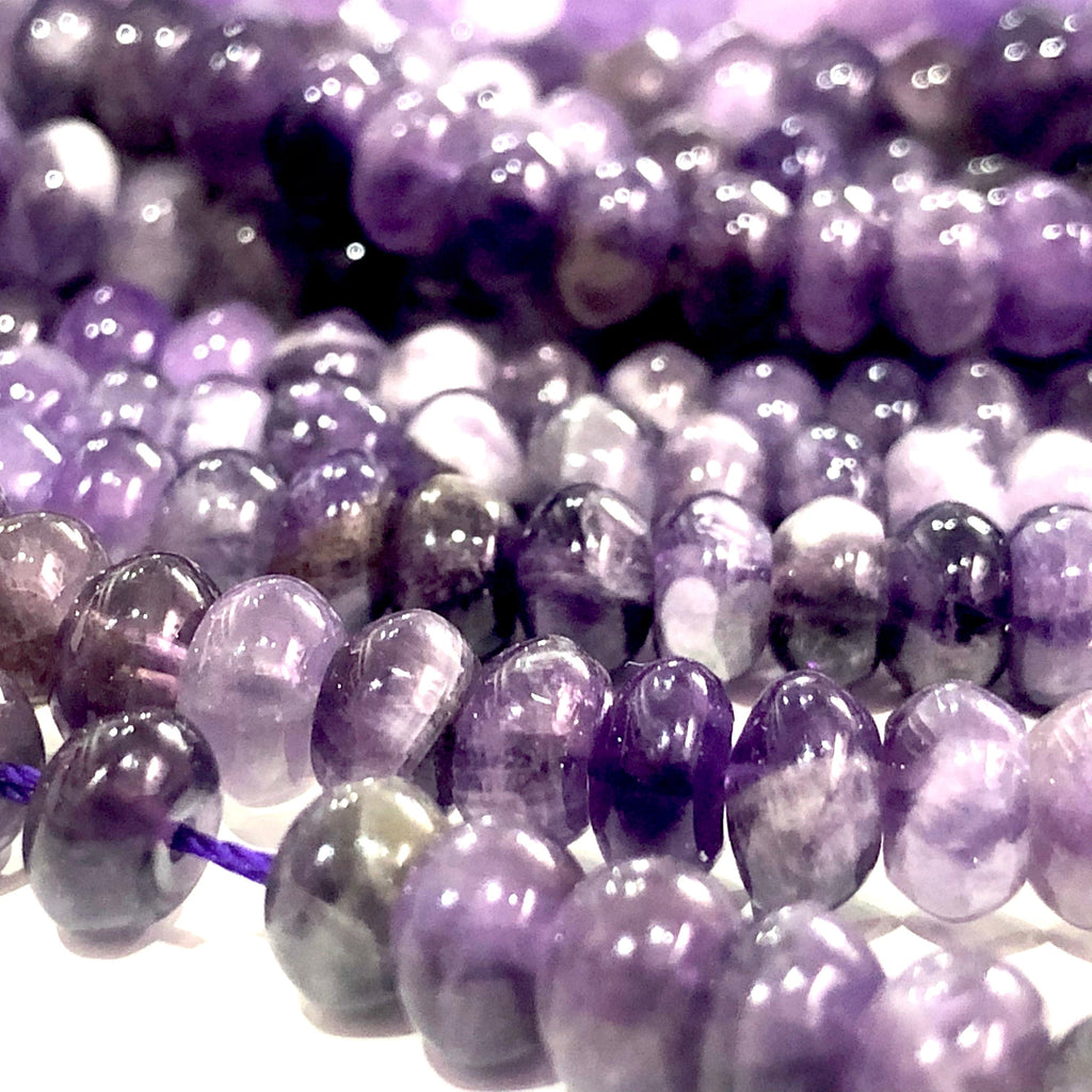 Genuine Amethyst Rondelle 6mm Beads, 100 Beads