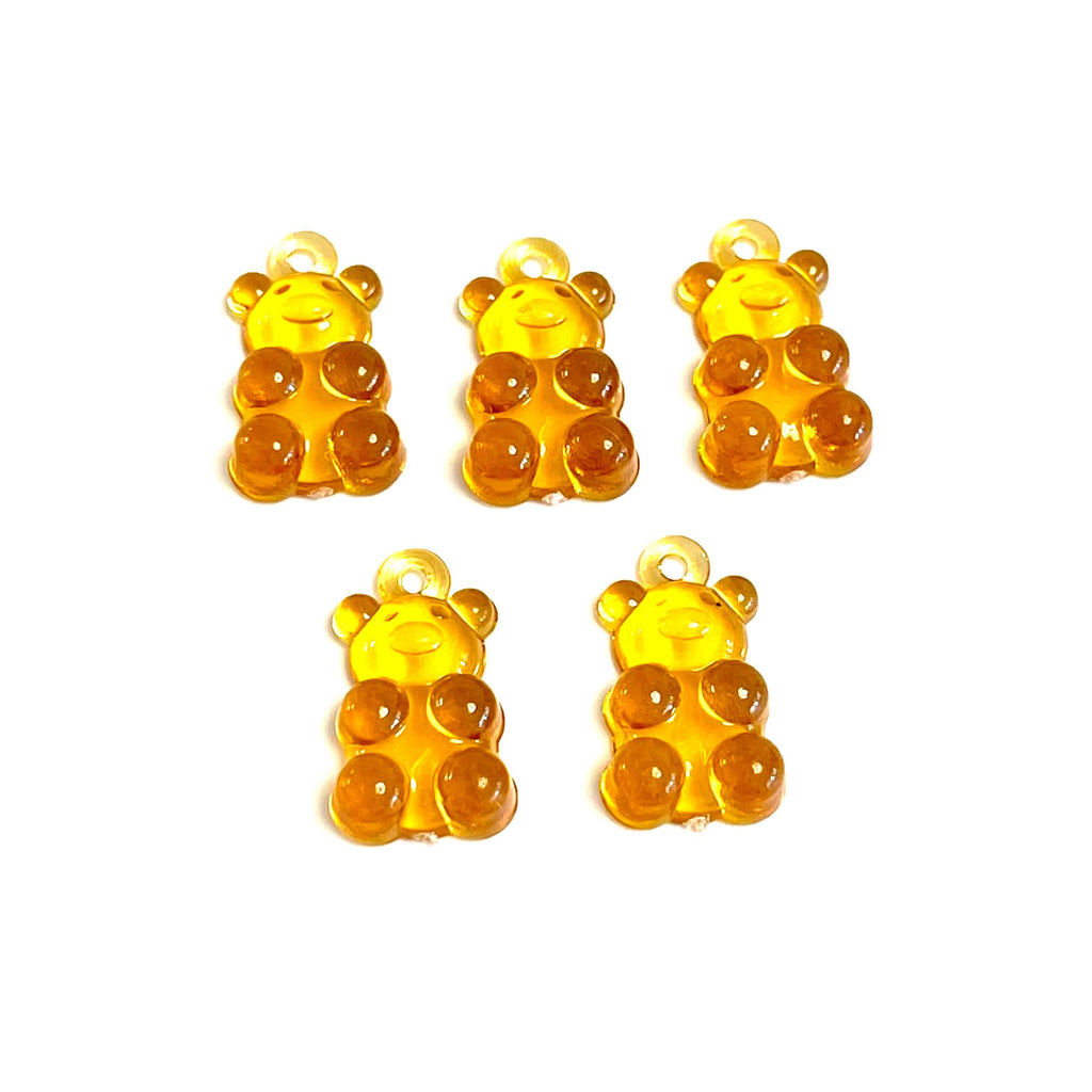 Jelly Bear Charms, Gummy Bear Resin With Loop, Jelly Bear Shaped Resin Charms  12x22mm,