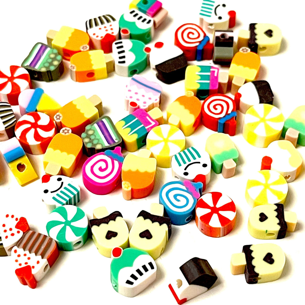 10mm Polymer Clay Cup Cake Beads,10 Beads in a Pack