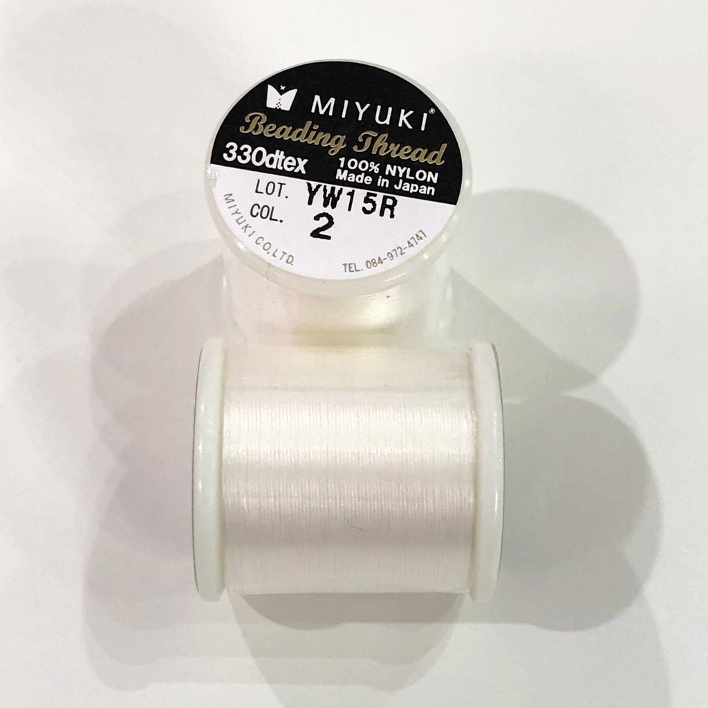 Miyuki Thread  Color 2 Eggshell ,Miyuki original nylon thread, delivered by 50 meters on a spool